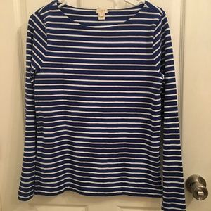 J. Crew Nautical Style Stripe Boatneck Top Shirt